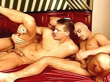 Jocks fuck eachother from behind after ransacking a business mans hotel room