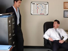 Ari Sylvio and Mike Martinez have fun in the office