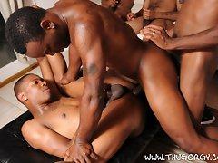 Black gay men Keymon, Phoenix, Mister Buck, Dee Truth, Intrigue and Jermany