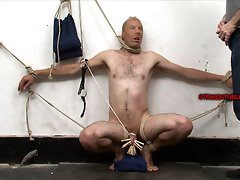 Straight guy gets forced to suck cock in bondage