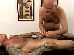 Nick Moretti enjoys a hot massage from Jake