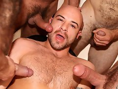 Hairy gay bears bukkake orgy