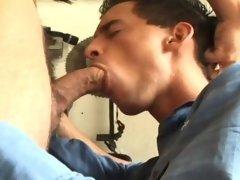 Two Horny Men Fucking Hardcore In Garage Bareback