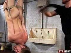 Straight guy Charlton gets bound and humiliated