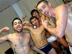 Awesome college gay orgy clips to jerking off ;)
