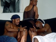 Massive cumshot of these black gays cock