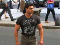 Brad Hatcher is a super-masculine competitive bodybuilder and football player. He has all the testosterone you can wish for. You might think this stun