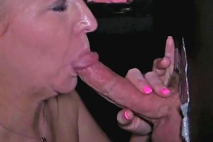 Milf Sucks Cock Pit First On The Stand
