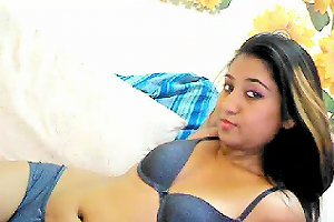Sultry Indian Teen With A Cute Smile Plays With Herself On The Webcam