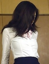 Japanese teenie gets fucked at work by her own horny boss
