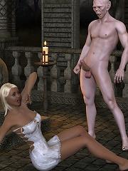 Elven Priestess shares dong after gets stuffed hard