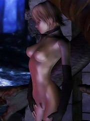 Attractive 3D Fantasy Heroine with tiny breasts