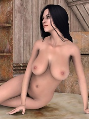 Sexy Princess fucked by shy 3D Moster
