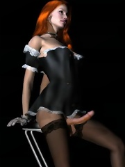 Manga heroines turned into shemale sluts