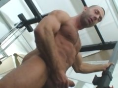 Physically, he is amazingly ripped wiht lean muscle, with huge veins (not only on his cock), he has wonderfully hairy arms, a huge broad hairy chest,