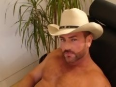 """He suggested wearing his """"Stetson"""", and seeing how a cowboy fantasy could be hot, we went for it! It was a real pleasure watching him stroke"""