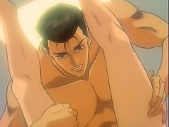 Hot anime gay hardcore sex in bed with anal fingers and cock fuck