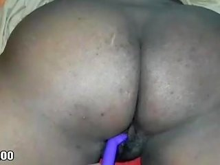 Ebony Being Fuck By Toy Pt 1