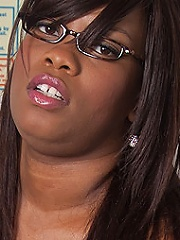 Job interview turns into hot sex with a horny black fattie nailing a shy horny applicant