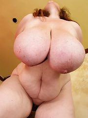 The ultimate BBW with the hugest tits youve ever seen is here with her round jiggly body for some self pleasuring fun!