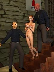 Hot 3D Hussy gets bent over...