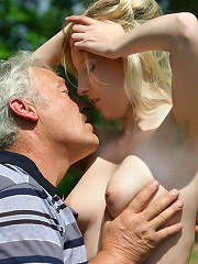 Blonde beauty gets fucked by man