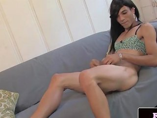 Asian Trap Babe Wanking Her Cock In Heels Tranny Porn 13