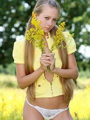 Longhaired teen model