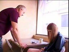Stp Redhead Teen Fucks To Calm Daddy Down !