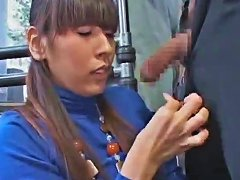 Japanese Girl In Turtleneck Has Oral On Bus