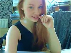 Pale Cute Teen Bent Over To Tickle Her Fresh Tight Pussy Just A Bit