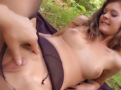 Outdoor Penetration With A Naughty Teen