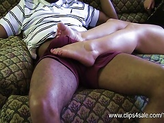 Ginger Sweet Gives Her First Footjob