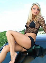 Madden Sexy On Black Car Teen Porn Pix