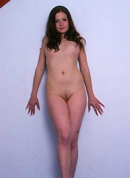 Young Sweet First-timer Melanie Exposes Her Pink Tight Pussy To The World. Teen Porn Pix