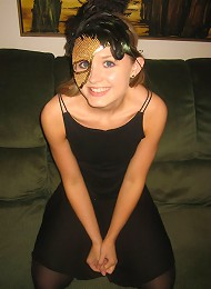 Kitty In Her Halloween Mask Teen Porn Pix