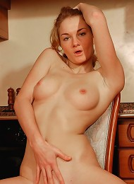 Teen With Nice Perky Tits Strips Naked In The Kitchen Teen Porn Pix