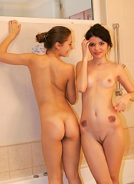 Kaira And Ellen Have A Lot Of Fun In Shower And Bath Teen Porn Pix