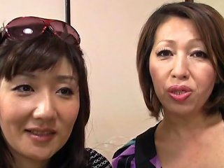 AnyPorn Video - Threesome With Two Horny Japanese Milfs