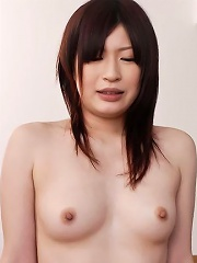Lovely Riko Oshima enjoys a deep insertion and a creampie