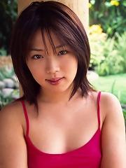 Cute shy Asian model