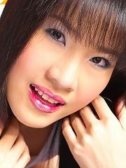 Kieko Kyo shows off her tight little snatch...