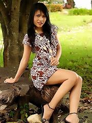 Beauty Jupjang Bunrugsa Strips Summer Dress