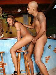 Lovely tranny Aline has a special taste for big cock