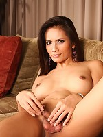 Sweet shemale Angie showing her yummy asshole and juicy dick