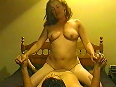 BravoTube Video - Brown-haired MILF Fingers Her Pussy After Sucking And Riding A Cock