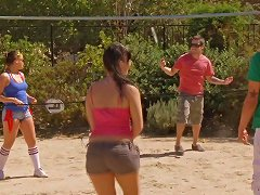 BravoTube Video - Delicious Brunettes Are Quite Happy To Be Banged On The Beach