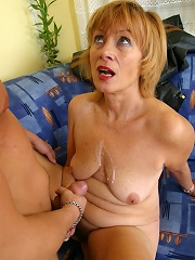 Young swell nails full blonde mommys bushy hole
