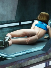 Cockcrazed 3D mistress getting her body soaked