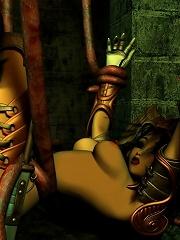 Cartoon Hooker spreading her legs